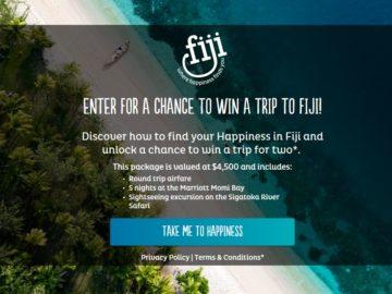 """Expedia and Tourism Fiji's """"Bula Fiji! Interactive Quiz"""" Sweepstakes"""