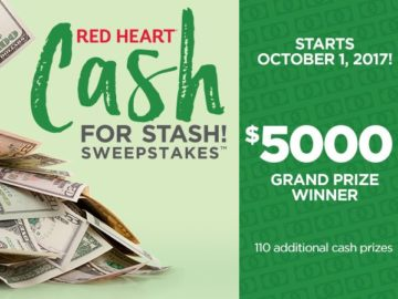 Red Heart Cash for Stash Sweepstakes