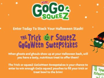 GoGo squeeZ Trick or SqueeZ GoGoween Sweepstakes
