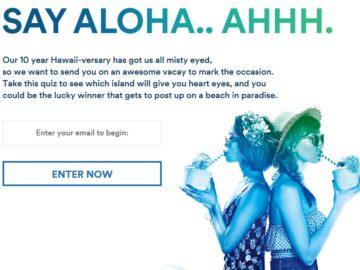 Alaska Airlines Nonstop Aloha Sweepstakes