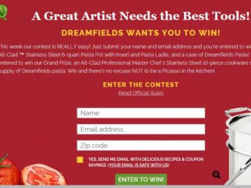 Dreamfields' Healthy Pasta Month 2017 Sweepstakes