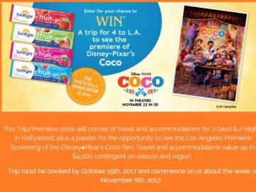 Disney Pixar's Coco MOVIE PREMIERE #SunRypeFamily Sweepstakes – Facebook