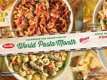 Barilla / Buca di Beppo National Pasta Month Sweepstakes