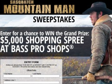 "Bass Pro Shops/Outdoor Channel 2017 ""Mountain Man"" Sweepstakes"