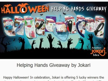 Jokari Halloween Helping Hands Giveaway Sweepstakes