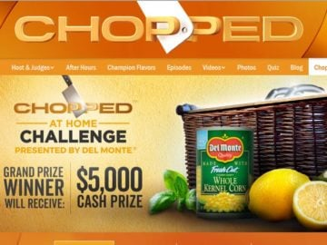 Del Monte Chopped at Home Challenge Sweepstakes