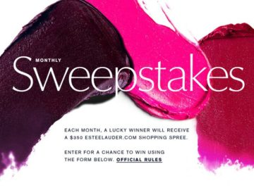 Estee Lauder Monthly Sweepstakes