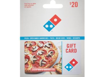 Win a $20 Dominos Gift Card