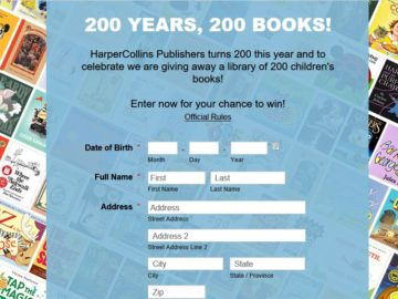 HarperCollins Publishers 200 Years, 200 Books Sweepstakes