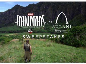 Marvel's Inhumans at Aulani Resort Sweepstakes – Twitter