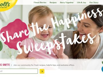 "Driscoll's ""Share the Happiness"" Sweepstakes"