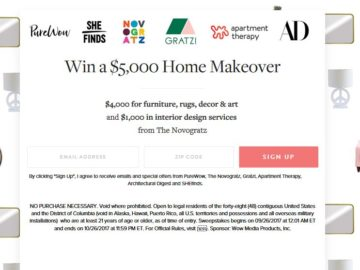 PureWow Home Makeover Sweepstakes