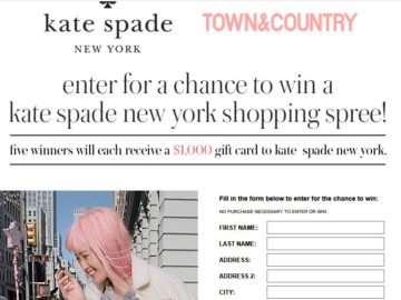 Town & Country kate spade Sweepstakes