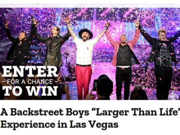 "Southwest Backstreet Boys ""Larger Than Life"" Experience in Las Vegas Sweepstakes"