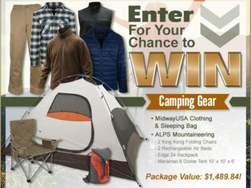 Midway USA Camping Gear Sweepstakes