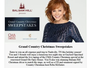 Balsam Hill Grand Country Christmas Sweepstakes
