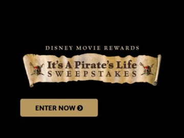 Disney Movie Rewards It's A Pirate's Life Sweepstakes