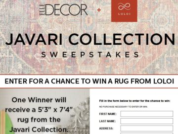 ELLE DECOR Loloi Sweepstakes