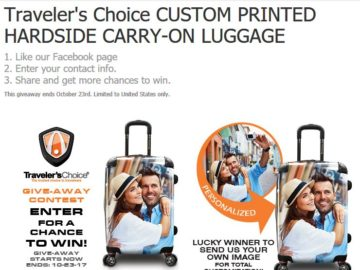 Traveler's Choice Travelware Customized Luggage Sweepstakes – Facebook