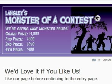 Langley Federal Credit Union Monster of a Contest Cash Giveaway Sweepstakes – Facebook