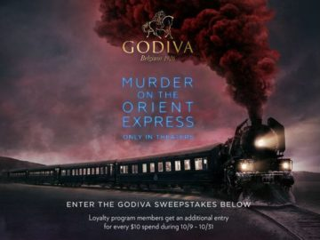 GODIVA Murder on the Orient Express Sweepstakes