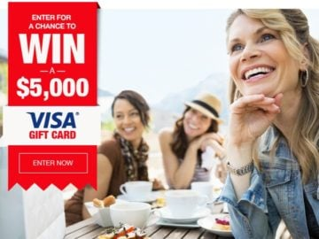Win a $5,000 Visa Gift Card