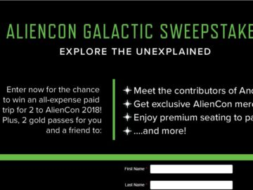 Aliencon Galactic Sweepstakes
