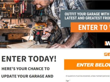 WORX Outfit Your Garage Sweepstakes