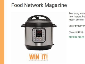Food Network Magazine Instant Pot Giveaway Sweepstakes