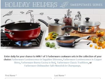 "Farberware Cookware ""Holiday Helpers"" Sweepstakes"