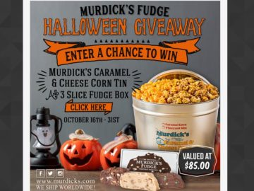 Murdick's Fudge Halloween Giveaway Sweepstakes