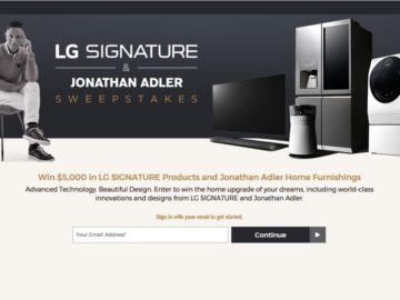LG Signature & Jonathan Adler Sweepstakes