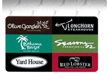 Win a Darden Restaurants $25 Gift Card