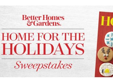 Better Homes & Garden Home for the Holidays Sweepstakes