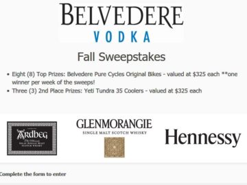 Belvedere Vodka Fall Sweepstakes