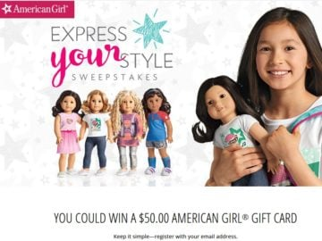 American Girl Express Your Style Sweepstakes