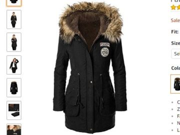 Win aJeeluory Women Warm Autumn Cotton Fleece Lined Parka!