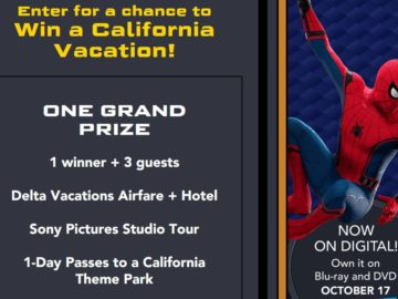 Mrs. Thinster's Spider-Man: Homecoming Vacation Sweepstakes