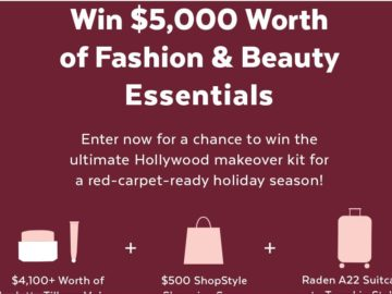 PopSugar Red-Carpet-Ready Holiday Season Sweepstakes