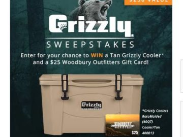 Woodbury Outfitters Grizzly Sweepstakes