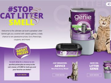 Litter Genie Cat Scratch Instant Win Game and Sweepstakes