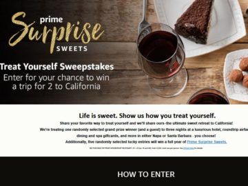"Prime Surprise Sweets ""Treat Yourself"" Sweepstakes"