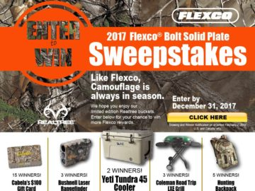2017 Flexco Bolt Solid Plate Sweepstakes