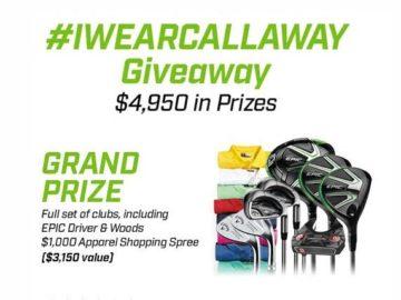 Callaway #IWEARCALLAWAY Giveaway Sweepstakes