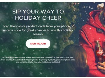 Coca-Cola Holiday Instant Win Game – Code