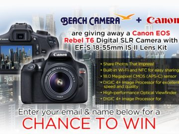 Beach Camera & Canon Digital Camera Sweepstakes – Facebook