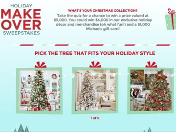Michaels 2017 Holiday Sweepstakes