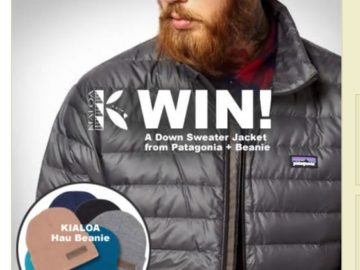 KIALOA Down Jacket and Beanie Sweepstakes