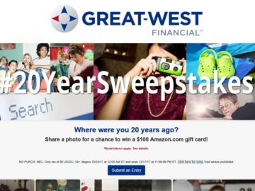 Great-West Financial 20 Year Sweepstakes