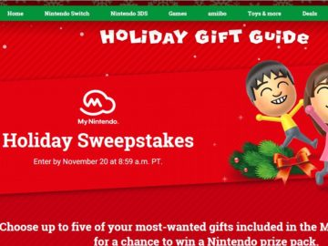 My Nintendo 2017 Holiday Sweepstakes